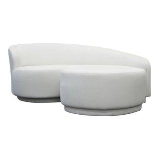 Vladimir Kagan for Weiman Curved Sofa & Ottoman
