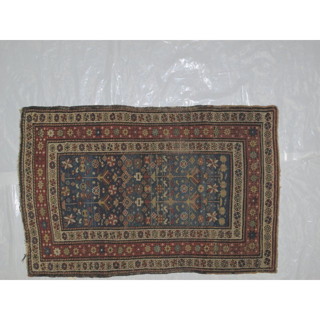 "Antique Russian Shirvan Rug - 3' X 4'6"" - Image 3 of 6"