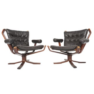 Sigurd Ressell Armed Falcon Chairs - a Pair