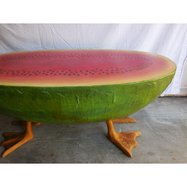 Mid-Century Fiberglass Watermelon Coffee Table - Image 3 of 7
