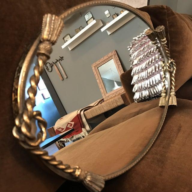Brass Tassel Mirrored Vanity Tray - Image 4 of 6