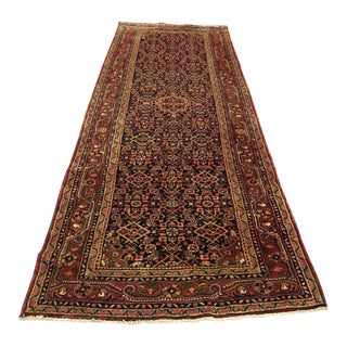 "Antique Persian Wool Runner Rug - 3.7"" X 12'"