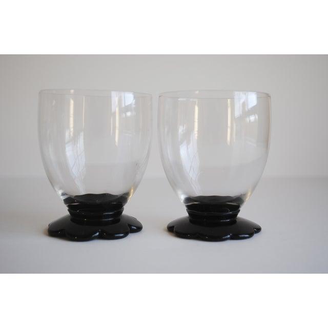 Black Scalloped Cocktail Glasses, Set of 6 - Image 8 of 8