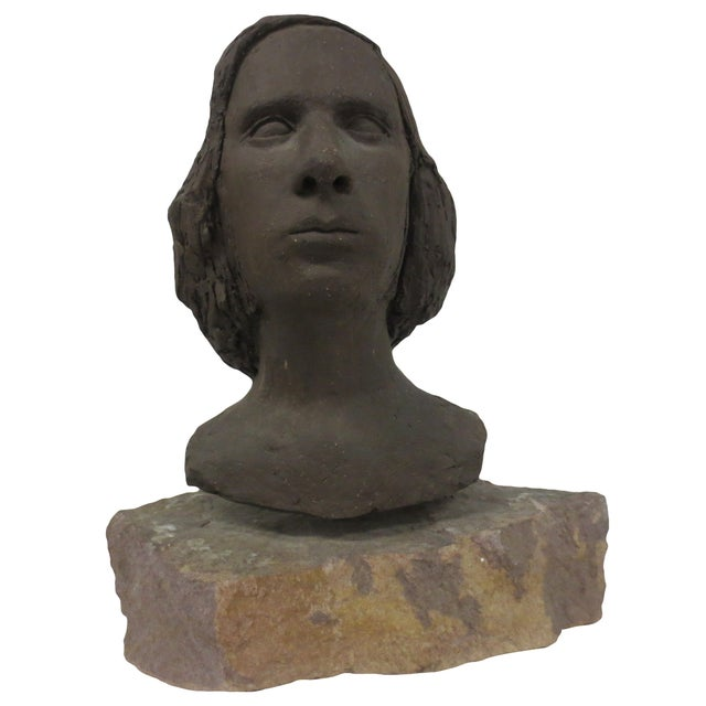 Terracotta Bust of Young Woman - Image 1 of 8
