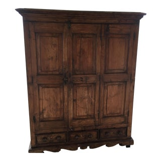 Rustic Wooden Armoire Cabinet