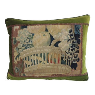 18th Century Aubusson Tapestry Decorative Pillow