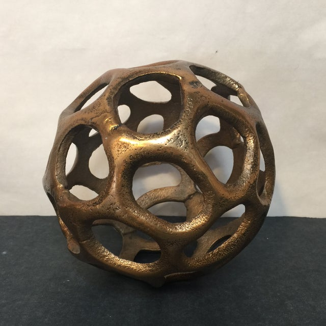 Round Gold Metal Orb - Image 4 of 6