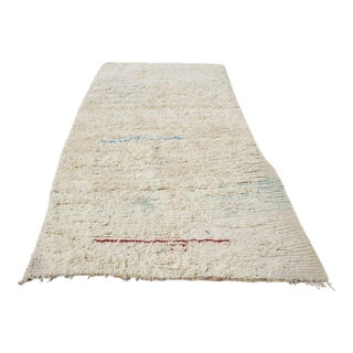 Moroccan Neutral Ivory Rug- 4' x 9'