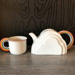 Image of Japanese Cloud and Rainbow Teapot and Mug Set