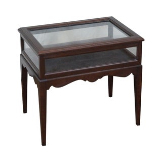 Ethan Allen Georgian Court Cherry Vitrine Table