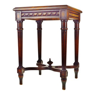 Vintage Stern Brothers Carved Mahogany Plant Stand
