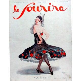 """F. Rebour 1926 Le Sourire """"Valencia"""" Print"""