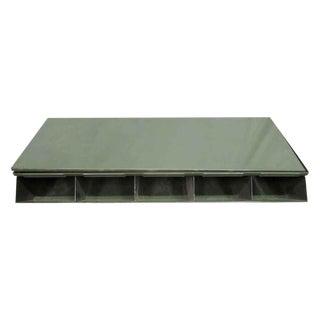 Green Industrial Metal Bins With Top