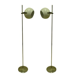 Pair of Italian Articulating Floor Lamps by Reggiani