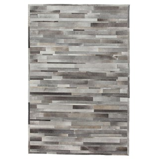 """Cowhide, Hand Woven Area Rug - 5' 0"""" x 8' 0"""""""