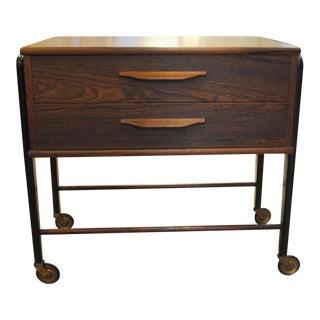 Danish Modern Rosewood Sewing Cart