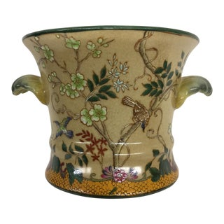 Vintage Chinese Hand Painted Planter