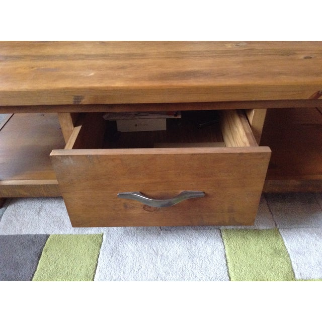 Solid Walnut Wood Coffee Table - Image 3 of 11