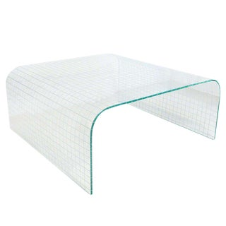 Leon Rosen Waterfall Glass Coffee Table