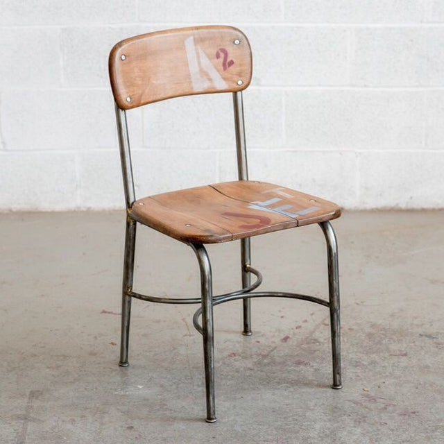 Mid-Century School Table Chairs - Set of 3 - Image 2 of 4