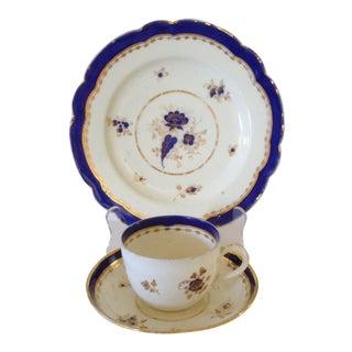 Early Gilt Porcelain Trio