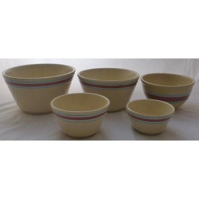 Antique Watt Nesting Mixing Bowls - Set of 5 - Image 2 of 9