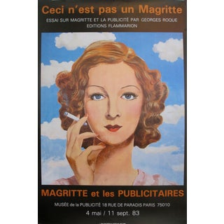 1983 Original Vinatge Magritte Museum Advertisement Exhibition Poster, Surrealist