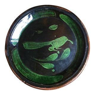Primitive Handmade Animal Plate