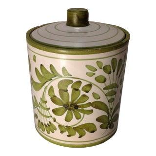Vintage Italian Pottery Tobacco Jar