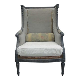 Pair of French Wingback Armchairs Attributed to Maison Jansen
