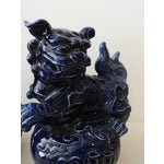 Image of Cobalt Temple Foo Dogs- A Pair