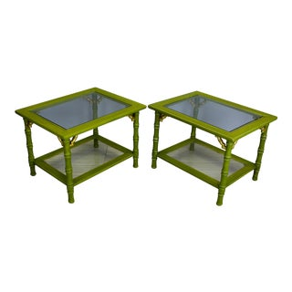 Vintage Palm Beach Style Side Tables -- A Pair