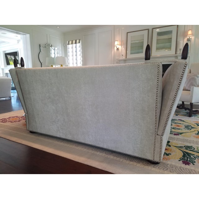 George Smith Light Silver Grey Sofa - Image 5 of 9