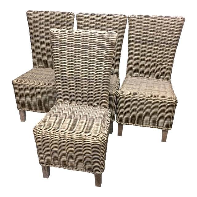 Restoration Hardware Majorca Side Chairs - Set of 4 - Image 1 of 11