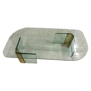 Leon Rosen for Pace Glass & Brass Coffee Table