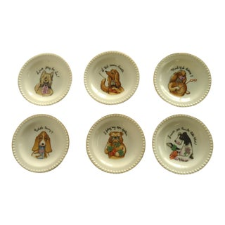 Vintage Dogs Playing Cards Coasters - Set of 6