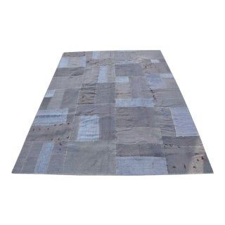 Gray Patchwork Rug - 5′8″ × 7′10″