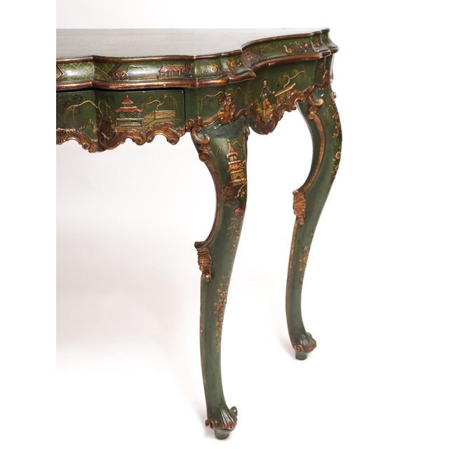 Chinoiserie Decorated Console Table with a Drawer - Image 6 of 11