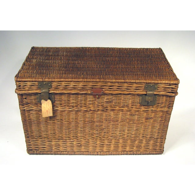 Auto Antique Wicker Trunks : Large antique french wicker trunk chairish