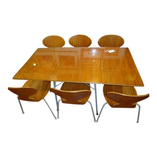 Arne Jacobsen Ant Chairs & Drop-Leaf Table