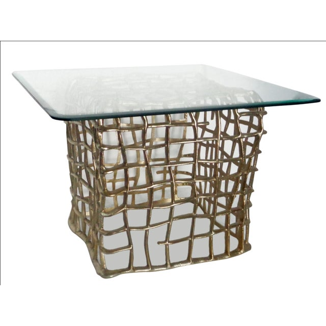 Accents End Table With Square Glass Top - Image 2 of 4