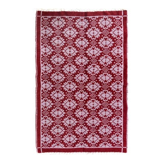 "Double-Sided Arya Hiram Pink/Pink Chenille Rug - 3'10"" X 5'10"""