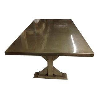 Custom Zinc Topped Dining Table