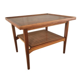 Vintage Kipp Stewart for Drexel Mid-Century Walnut Side Table