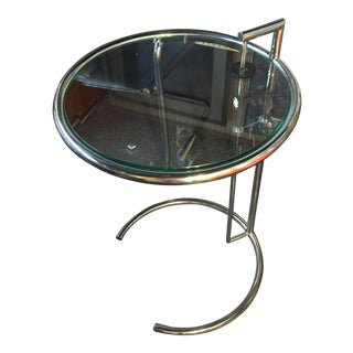 Eileen Gray Adjustable Chrome & Glass Table