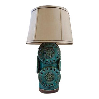 Soholm Green and Brown Mid-Century Industrial Table Lamp