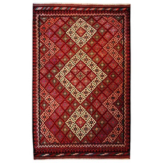 Mid-20th Century Saveh Kilim Rug