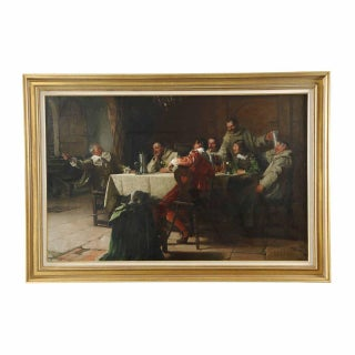 Fritz Freund (German, 1859-1942) Monks & Soldiers Painting