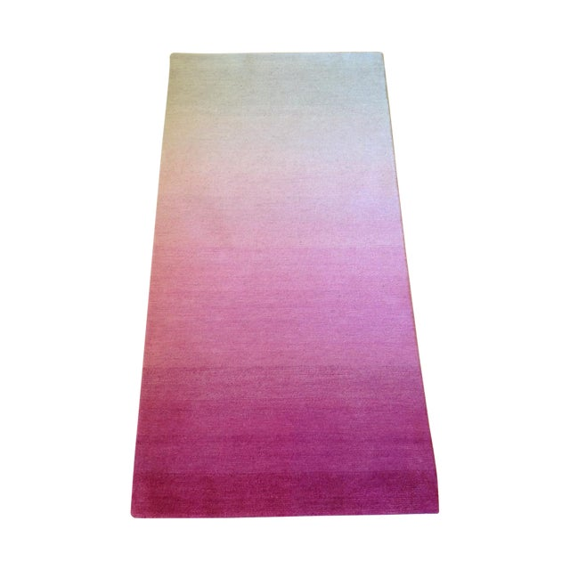 Ombre White Pink Rug - 2′ × 4′