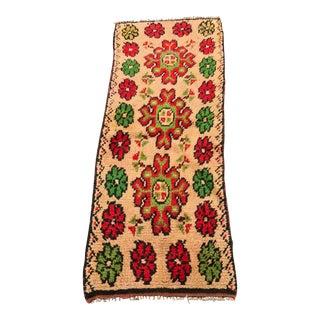 """Vintage Floral Moroccan Rug - 2'x5'2"""""""